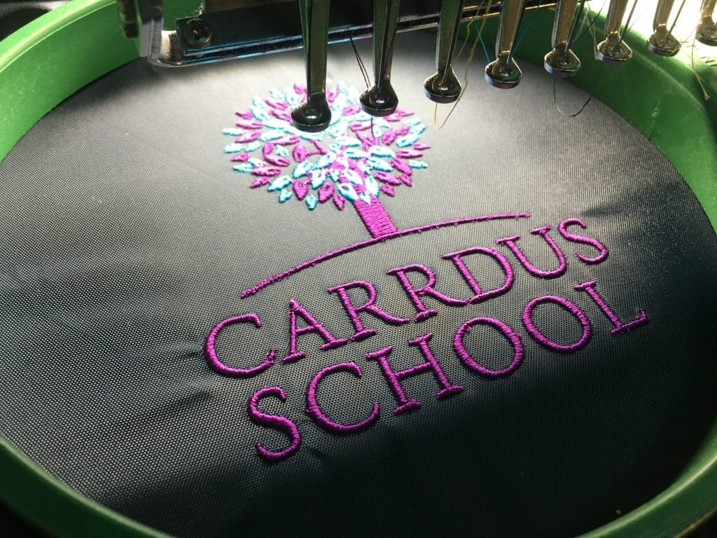 school bag embroidery holdall Norwich