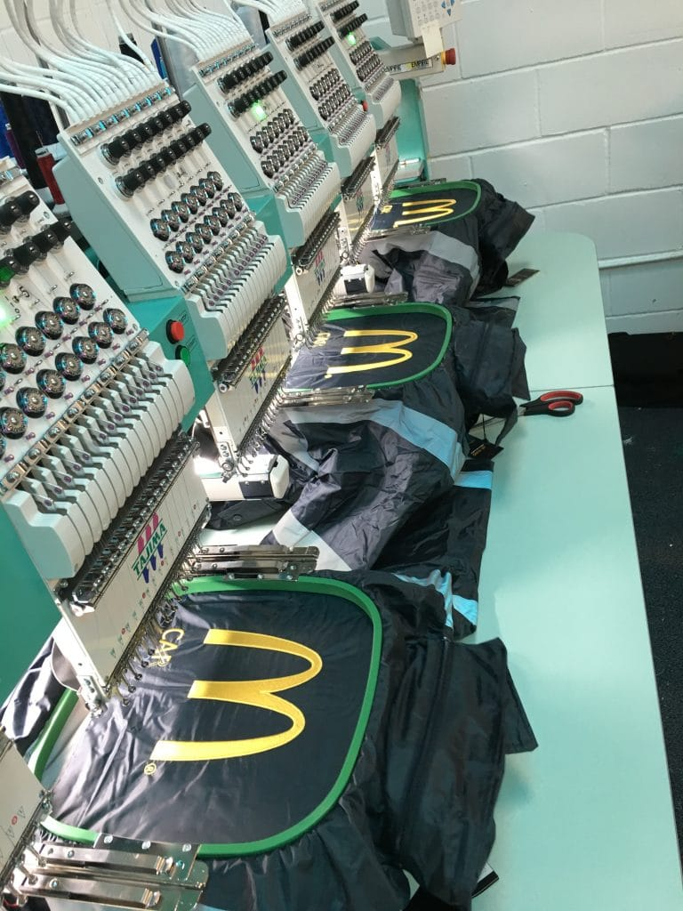 Embroidered Hi Vis Jackets McDonalds Norwich